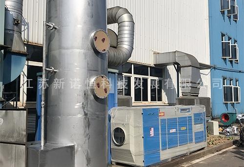 废气喷淋洗涤塔应用现场
